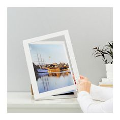 IKEA HEMMINGSBO FRONT OPENING PHOTO FRAME/ WHITE- 8.5Х11''- QUICK EASY TO CHANGE #IKEA #Contemporary