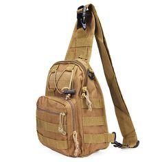 Sale 26% (16.59$) - Men Outdoor Sport Crossbody Sling Shoulder Chest Bag