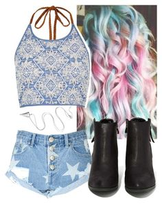 """""""Untitled #8346"""" by carmellahowyoudoin ❤ liked on Polyvore featuring River Island, Glamorous and N.Y.L.A."""