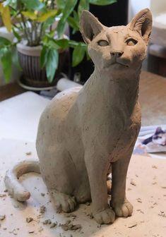 Pet Cat Sculpture Commission