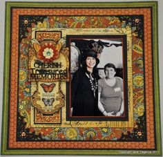 This is an absolutely glorious Olde Curiosity Shoppe layout with such richness by @Jane Tregenza! She used it to honor our leader Diane Schultz as they have become dear friends! She also used her amazing chipboard she makes with Imaginarium Designs! Click on the photo to see the tutorial of how to make one yourself! #graphic45 #layouts