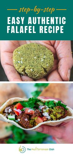This recipe for the Best Authentic Falafel, made with chickpeas, fresh herb, and the right spices! And, I'm sharing my complete step-by-step tutorial and important tips for baking or frying falafel. Greek Recipes, Veggie Recipes, Whole Food Recipes, Vegetarian Recipes, Cooking Recipes, Healthy Recipes, Cooking Ideas, Dinner Recipes, Authentic Falafel Recipe
