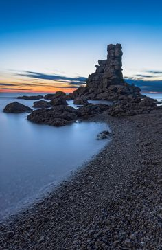 Sea Stack at Green Gardens Beach, by gord_follett A sea stack found on Green…