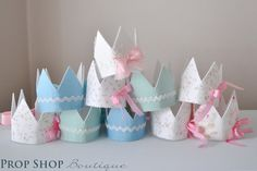 Shabby Chic Birthday Crown Collection by propshopboutique on Etsy