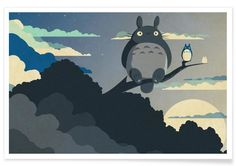 My Neighbor Totoro, Studio Ghibli Studio Ghibli Films, Art Studio Ghibli, Art Mural, Hayao Miyazaki, Manga Anime, Howls Moving Castle, My Neighbor Totoro, Canvas Prints, Movies