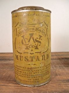 Vintage Advertising Tins Mustard Cans by perfectpatina on Etsy