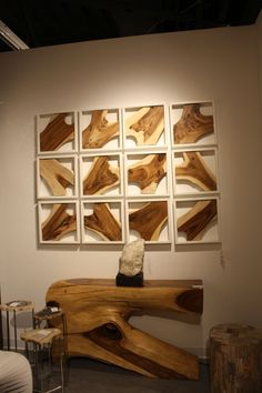 48 Newest Wood Wall Art Ideas For Home. When it comes to decorating one's home, a homeowner with impeccable tastes would definitely want to purchase décor that would beautify both the interior and . Solid Wood Furniture, Home Furniture, Furniture Design, Furniture Projects, Wood Projects, Wood Wall Decor, Diy Wall, Wood Slab, Elegant Homes