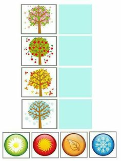 Month Weather, Weather For Kids, Weather Seasons, Seasons Of The Year, Four Seasons, Games For Kids, Activities For Kids, Tree Study, Elementary Art