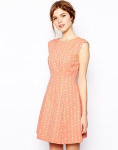 Oasis Daisy Jacquard Dress