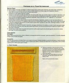 Baúl Manualidades: MANUALIDADES CON TELAR CUADRADO Y RECTANGULAR Loom Knitting, Crochet, Album, Blog, Crocheting, Fabrics, Nail, Different Types Of, Journals