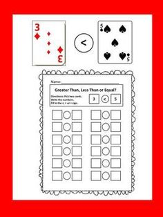 Greater Than, Less Than or Equal - Free and Simple Card Game