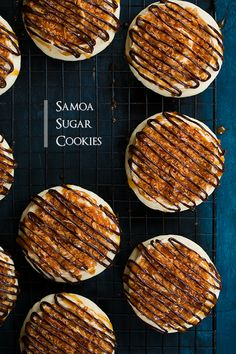 Samoa Sugar Cookies - these are basically a Lofthouse style sugar cookie combined with a girl scout Samoa cookie. They are amazing!!