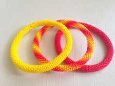 Set of 3 Summer Bangles.Colourful Summer by gemstonejewelery, $36.00