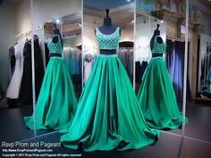 This ball gown is so elegant yet with a hint of sexy with a beaded top and a full satin skirt skirt, and it's at Rsvp Prom and Pageant, your source for the HOTTEST Prom and Pageant Dresses!