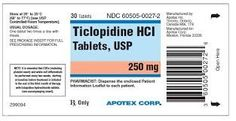 Generic Name: Ticlopidine Popular Brands: Ticlid Availability: In Stock Valid for: Years &nbs. Ischemic Heart Disease, Cardiovascular Health