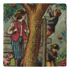 Georgian Country Boys Picking Apples Trivet  awesome fathers day gifts, first mothers day gifts, diy father gifts #blingwineglass #womenempowerment #womenentrepreneurs First Mothers Day Gifts, Mothers Day Presents, Gifts For Father, Cider Press, Autumn Tea, Fathers Day Quotes, Country Boys, Georgian, Fall Decor