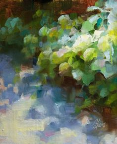 Pamela Blaies Gallery of Original Fine Art Fine Art Gallery, Garden Art, Projects To Try, Dance, Hydrangeas, Artist, Artwork, Oil Paintings, Sunlight
