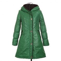 $17.90 Fashionable Hooded Special Design Collar Long Sleeves Color Match Cotton Blend Padded Coat For Women
