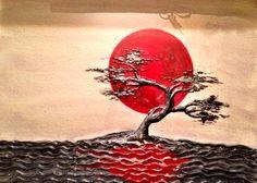 Red moon original art