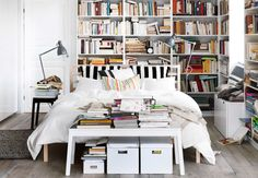 Impressive 2014 Ikea Furniture, Eligible Item to Furnish House - Home Design and Home Interior Bedroom Bookcase, Library Bedroom, Home Bedroom, Modern Bedroom, Bedroom Decor, Ikea Bedroom, Bedroom Shelving, Bedroom Ideas, Master Bedroom
