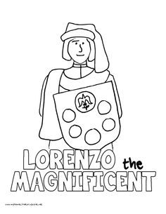 world history coloring pages printables lorenzo the magnificent de medici