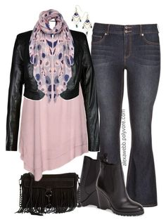 Plus Size Flares by alexawebb on Polyvore @alexandrawebb. Not the jeans for me. Maybe jeggings.