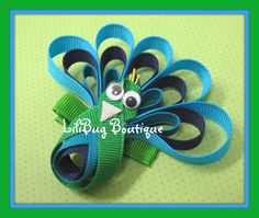 Peacock Hair Clip DIY