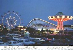 Magical twilight time at Miracle Strip Amusement Park, Panama City Beach, Fla.