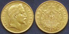 France 20 Francs,1867bb, Strasbourg mint Napoleon 111, Empereur Laureate - head of Napoleon 111