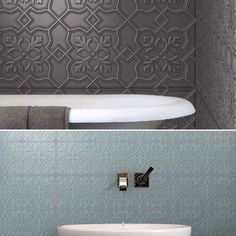 These gorgeous tiles are part of a 300 x 600mm collection specifically designed to create a beautiful textural feature wall not only in your home but those interior projects too! The range comprises of twelve patterns ranging from modern geometrics to vintage pressed metal looks. Create full feature walls in any room each colour carefully crafted to be adaptable and versatile to suit your elegant palettes. Perfect for kitchen splashbacks or wet areas thanks to its smooth low profile finish…