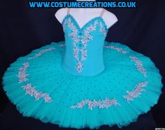 PEACOCK BLUE  TUTU WITH SILVER EMBELLISHMENT  - made for Dance Festivals by Tutu Maker Monica Newell www.costumecreations.co.uk   UK