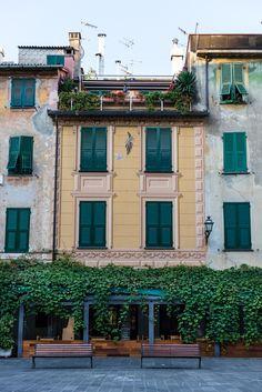 Piazza in Chiavari, Liguria_ Italy