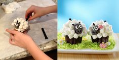 SWEET LITTLE LAMB FOR EASTER http://www.landolakes.com/TestKitchen/Blog/break-away-from-the-herd-with-lamb-cupcakes/