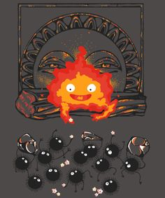 Snacking with calcifer, studio ghibli