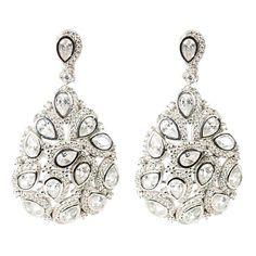 Peacock Earring Silver