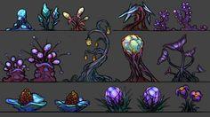 ArtStation - Alien plantlife, Rob Smyth