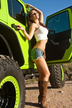 :-)Reminds me to take my tops off more often! ♥ Sexy In A Raider - off road girls hot chicks babes driving. bed and mad super car 4x4 round ass in the mud beautiful.jeep suzuki samurai lj 80 sj310 StanPatzitw