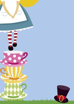 Alice Tea Party, Tea Party Theme, Alice In Wonderland Tea Party, Tea Party Birthday, Party Themes, Alice In Wonderland Invitations, Alice In Wonderland Paintings, Disney Instagram, Note Paper