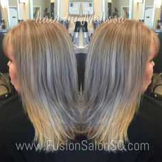 Soft Blonde highlights using #balayage and #babylights! #fusionsalonsc #hairbymelissa #redkencolor