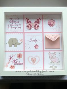 Baptism Gift - Stamp Spring The Effective Pictures We Offer You About mirror Frame Crafts A quality Creative Gifts For Boyfriend, Diy Gifts For Kids, Presents For Boyfriend, Boyfriend Gifts, Valentine Day Crafts, Valentines, Stampin Up, Saint Valentin Diy, Anniversary Crafts