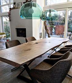 Holztisch Esstisch Eichentisch unverleimt aus einem Stück