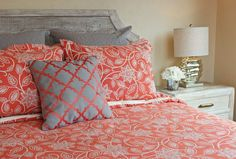 Freshen up your bedroom this spring!  Decorating ideas for bedrooms from Jenniferdecorates.com