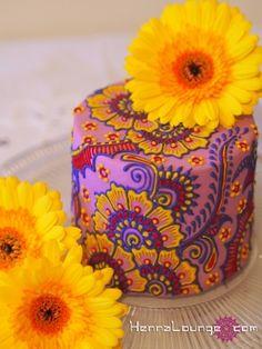 Mini Henna Cake By hennalounge on CakeCentral.com