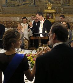 October 29th, 2014. In honor of the Chilean President's visit the King and Queen hosted a gala dinner