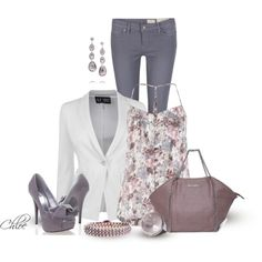 Lilacs in the Spring, created by chloe-813 on Polyvore