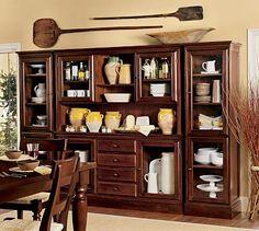 tucker wall unit potterybarn - Tucker Dining Room Set