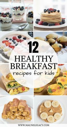 Breakfast Recipes for Kids A protein-packed series of 12 healthy breakfast recipes for kids and adults.A protein-packed series of 12 healthy breakfast recipes for kids and adults. Healthy Breakfast For Kids, Healthy Sweet Snacks, Nutritious Snacks, Healthy Meals For Kids, Kids Meals, Protein Breakfast, Breakfast Ideas, Dinner Healthy, Diabetic Snacks
