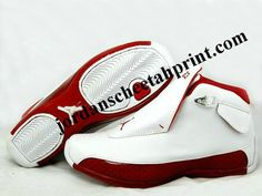 watch c2f60 f9e36 Nike Air Jordan Retro 18 Shoes White Red For Sale