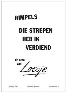 Rimpels...#Loesje