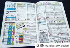 Micah has all the details on all the stuff! You know when you see a spread and your eyes actually go ? #Repost @my_blue_sky_design with @repostapp ・・・ Daily Spread - September 2016 Week 2 #bujojunkies #bujo #bulletjournal #bullet #journaling #journal #tracker #habittracker #habit #bujotracker #planwithme #planwithmechallenge #weightloss #weighttracker #daily #dailydoing #dailytracker #leuctturm1917 #details #organized #writeitdown #organized #color #dailyspread